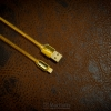 REMAX Lightning to USB Cable Kingkong 1000 MM DATA Cable Gold