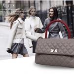 กระเป๋าหนัง Co-Co (Gray-Red)
