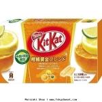 พร้อมส่ง ** Kit Kat Japanese Mikan Lemon Citrus คิทแคทรสส้มและมะนาวญี่ปุ่น (แบบกล่อง 24 บาร์)