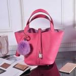 กระเป๋าหนังวัว รุ่น Picotin 18' Cherry pink