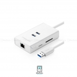 UGREEN20248 Multifunction Gigabit Lan Adapter with USB3.0 Hub and Card Reader