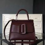 กระเป๋าหนังแท้ boyy karl wine red (หนังวัวโมโนแกรม)