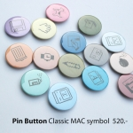 Pin button Set with Classic mac symbol