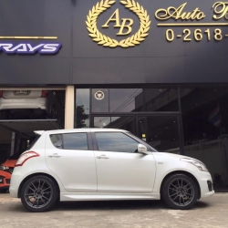"รีวิว Suzuki Swift + Rayswheel 57Xtream 17"" By Nsports"