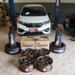 รีวิว Honda Jazz RS ใส่ล้อ TE37 Sonic 16x7+35 4-100