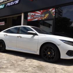 Honda Civic FC + Rays 57FXX CJ 18x8+38 5-114.3