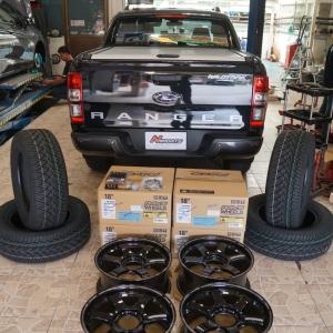 รีวิว Ford Ranger + Rayswheel TE37sb 18x8+38 6-139.7