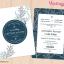 การ์ดแต่งงาน การ์ดเชิญงานแต่งงาน ลายใบไม้ D90090 thumbnail 1
