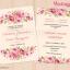 D90007 การ์ดแต่งงาน การ์ดเชิญ ดอกไม้โทนชมพู thumbnail 1