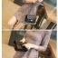 กระเป๋า chanel คลาสสิก โซ่ทองร้อยหนัง (10 นิ้ว)หนังแกะ (ทั้งใบ) thumbnail 4