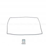 """Screen Middle Frame Rubber Bezel Trim Molding MacBook Air 11"""" A1370 , 1465"""