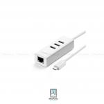 UGREEN USB-C To 3-Port USB 2.0 Hub with Ethernrt