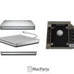Optical Bay 2nd Drive + Dvd Super Slim Usb 2.0 Case Upgrade Kit