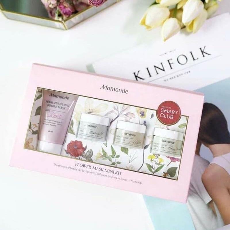 �ล�าร���หารู��า�สำหรั� Mamonde Flower Mask Mini Kit